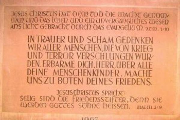 Gedenktafel der Protestantische Kirche in Ramsen (Pfalz)