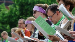 Fronleichnamsgottesdienst beim 100. Katholikentag in Leipzig