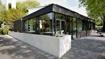 Außenansicht der evangelischen Friedenskappele in Bochum-Stahlhausen