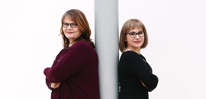 Maria Loheide und Huschke Mau