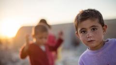 Flüchtlingskinder in dem Flüchtlingscamp Arin Mirxan