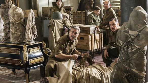 """Szene aus dem Film """"Monuments Men"""" von und mit George Clooney"""