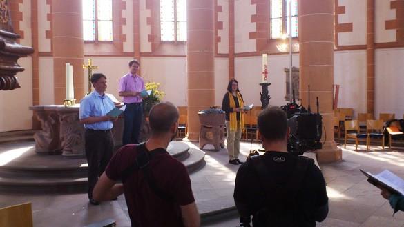 Probe für den Fernsehgottesdienst in Heidelberg