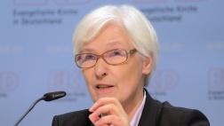 Irmgard Schwaetzer, machte ihre dritte Karriere als Präses der Synode der Evangelischen Kirche in Deutschland, hier am 6.11.16 bei der EKD-Synode in Magdeburg.
