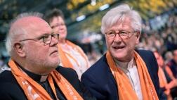 Kardinal Reinhard Marx (li.) und Heinrich Bedford-Strohm (re.) beim evangelischen Kirchentag.