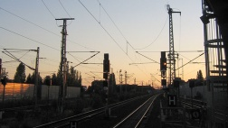 Bahngleise am Bahnhof Berlin-Spandau