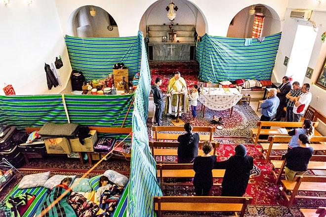 Das Kloster der Jungfrau Maria in Sulaimaniyya nimmt Flüchtlinge aus Bakhdida auf.