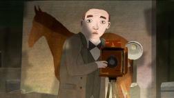 Die Hälfte der Stadt: Chaim bei der Arbeit in seinem Atelier (Animation).