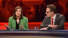 """Katrin Göring-Eckardt, B'90/Grüne, Fraktionsvorsitzende und Holger Münch, Präsident des Bundeskriminalamtes (BKA) diskutieren in der Sendung """"hart aber fair""""."""