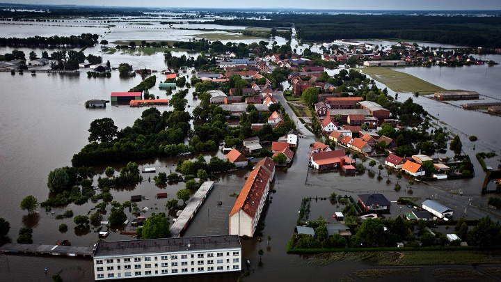 Hochwasser 2013 Ort Fischbeck