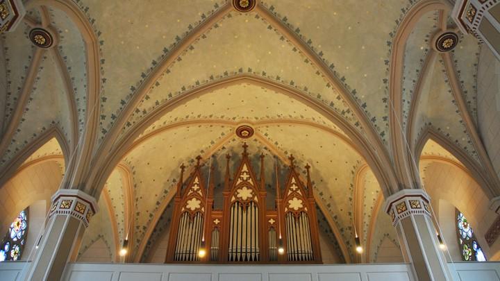 Sternenhimmel und Orgel der Johanneskirche, Erbach