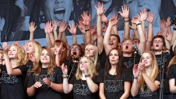 Der schwedische Chor Livslust beim Gospelkirchentag 2012 in Dortmund.
