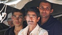 Flüchtlinge in Presevo an der serbisch-mazedonischen Grenze