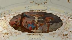 """Die barocke Decke der St. Anna-Kirche in Augsburg wird beschallt von der """"Friedensoper"""" des jungen Komponists Patrick T. Schäfer"""
