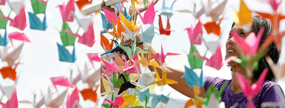 Japanese paper cranes