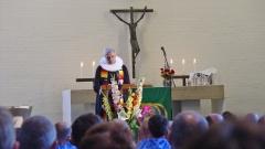 Pastor Detlev Gause in einem AIDS-Gottesdienst