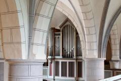 Blick auf die Orgel in der Laurentiuskirche Bünde