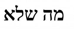 Nietzsche Hebräisch
