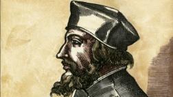 Der tschechische Kirchenreformer Jan Hus, Gemälde aus dem 16. Jahrhundert.