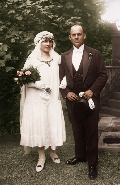 Brautkleid aus den 1920ern