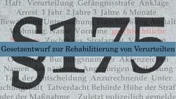 Illustration §175 - Gesetzentwurf zur strafrechtlichen Rehabilitierung von Verurteilten