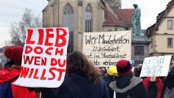 Gegner und Befürworter des baden-württembergischen Bildungsplans demonstrieren in Stuttgart (Archivfoto).
