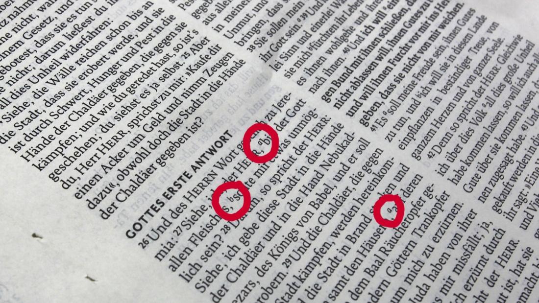 Einzelbuchstaben in der Lutherbibel