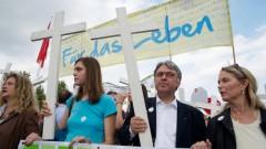 Demonstration gegen Abtreibung in Berlin