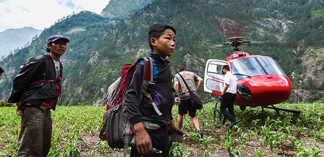 Hubschrauber im Nepal