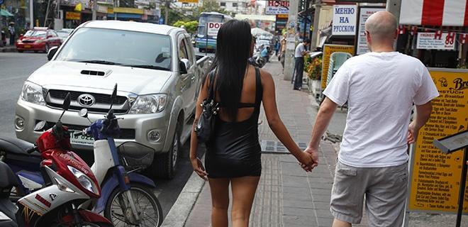 Ungleiches Paar in Pattaya