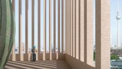 """Architekten-Entwurf des """"House of One"""", das im Berliner Stadtzentrum am Petriplatz entstehen soll."""