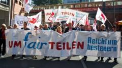 """Bündnis """"Umfairteilen"""" demonstriert in Berlin für Reichenteuer"""