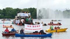 G20-Proteste auf Hamburger Binnenalster
