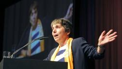 Margot Käßmann spricht am 25.05.2017 in einer Bibelarbeit auf dem evangelischen Kirchentag in Berlin.