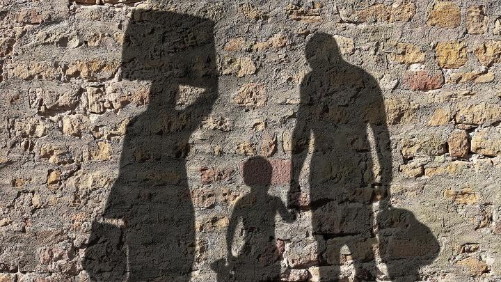 Flüchtlingsfamilie
