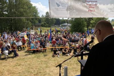 EKD-Friedensbeauftragter beim Aktionstag in Büchel