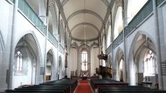 Innenansicht der Marienstiftskirche in Richtung Chorraum.