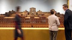 """Modell des """"Salomonischen Tempel"""" im Hamburg-Museum."""