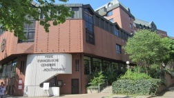 City Church Hamburg, ZDF-Gottesdienst am 10.07.2016 - Das Gebäude der CityChurch liegt in der Michaelispassage im Zentrum Hamburgs.