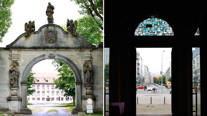 Kloster Kirchberg in Baden-Württemberg (li) und Rogate-Kloster in Berlin (re).