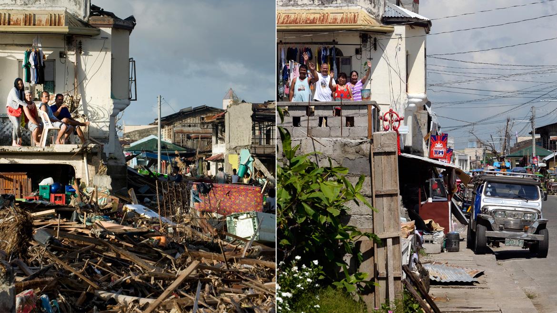 Vorher – Nachher: Ein Jahr nach Taifun Haiyan