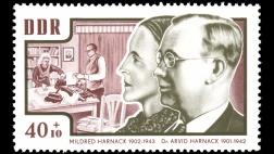 Arvid Harnack und seine Frau Mildred auf einer Briefmarke der DDR.