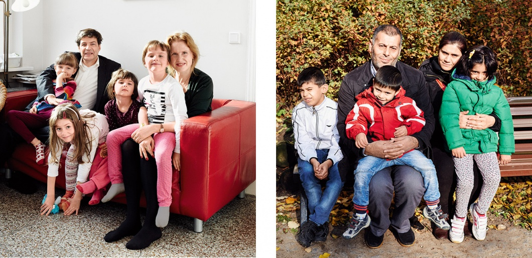 Zwei Familienfotos