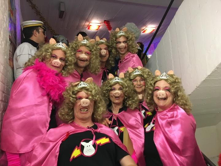 Schweine im Karneval