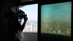 """Dreharbeiten in der palästinensischen Hafenstadt Gaza City zu """"Auserwählt und ausgegrenzt - Der Hass auf Juden in Europa""""."""