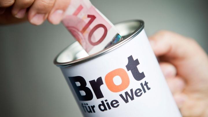 Spenden und Kollekten sind die Basis der Projektarbeit von Brot für die Welt.