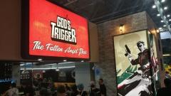 """Das Spiel """"God's Trigger"""" auf der Gamescom 2017 wirbt mit eindeutig christlichen Motiven."""