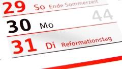 Kalender mit Reformationstag