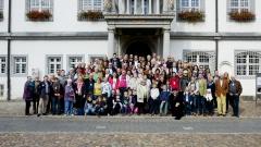 Lutheriden-Treffen 2017 in Wittenberg: Familienfoto vor dem Wittenberger Rathaus.