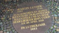 Gedenkplatte Martin Luther Heidelberg